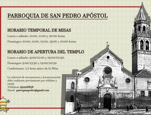MISAS PARROQUIA DE SAN PEDRO