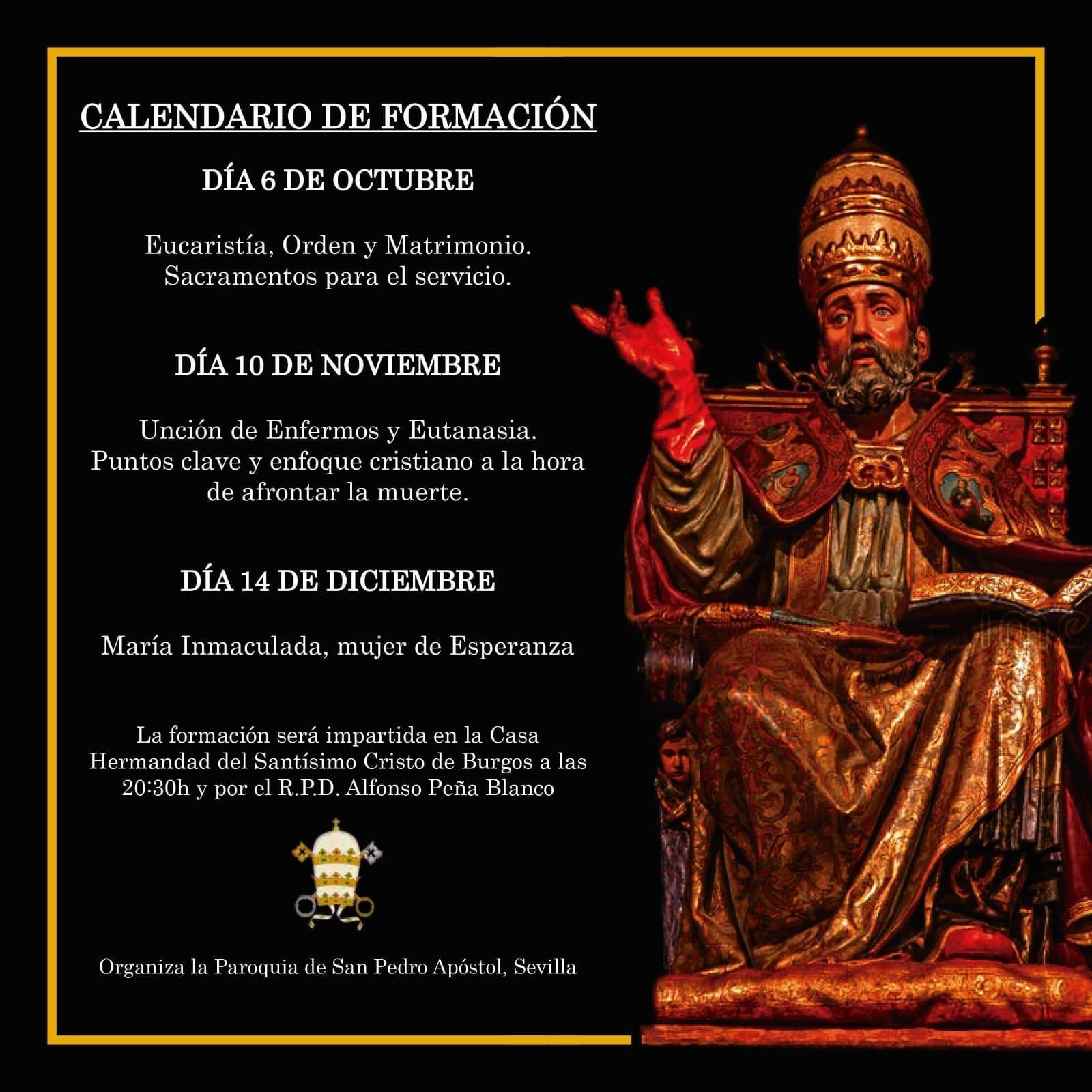 Charlas de formación de la Parroquia de San Pedro